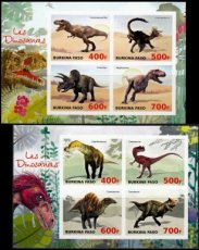 BURKINA FASO 2019 Dinosaurs IMPERFORATED