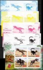 BURKINA FASO 2019 Dinosaurs PROOF SET