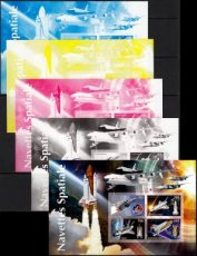 BURKINA FASO 2019 Space shuttle PROOF PRINT SET