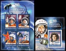 BURKINA FASO 2017 Space Tereshkova