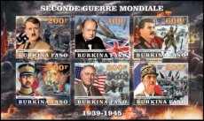 BURKINA FASO 2020 World War II Stalin Churchill Hitler Hirohito Gaulle Roosevelt
