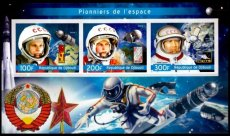 DJIBOUTI 2019 Space pioneers Russia IMPERFORATED