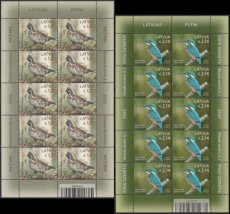 LAT2001SH LATVIA 2020 Birds FULL SHEETS