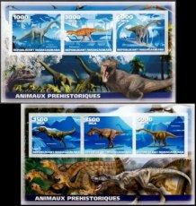 MADAGASCAR 2019 Dinosaurs IMPERFORATED
